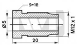Bremžu caurules uzgālis M12x1mm